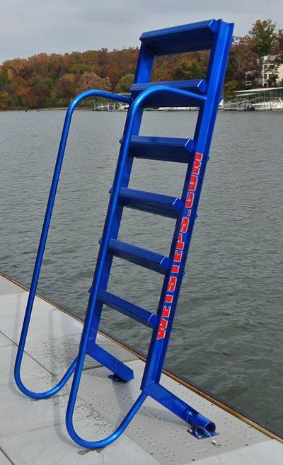5 Step Wet Steps Angled Dock Ladders Dockladdersdepot Com