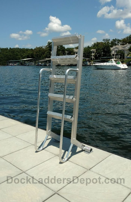 6 Step Wet Steps Angled Dock Ladders Dockladdersdepot Com