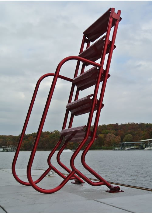 Wet Steps Lite 5 Step Aluminum Dock Ladders 5 Step Wet